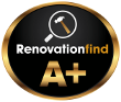 This logo depicts a company with Renovationfind's Gold or A+ rating.