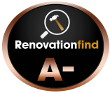 This logo indicates that a company has received RenovationFind's Bronze or A- rating.