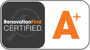 This logo depicts a company with Renovationfind's A+ rating.
